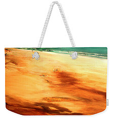 Weekender Tote Bag featuring the painting Dune Shadows by Winsome Gunning