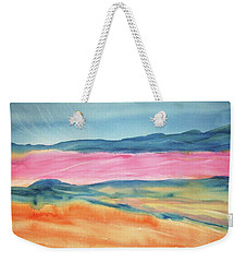 Weekender Tote Bag featuring the painting Dunes by Ellen Levinson