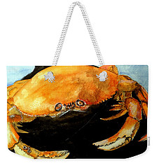 Weekender Tote Bag featuring the painting Dungeness For Dinner by Carol Grimes