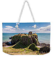 Weekender Tote Bag featuring the photograph Dunnotar Castle by Sergey Simanovsky