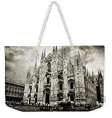 Weekender Tote Bag featuring the photograph Duomo Di Milano by Laura Melis