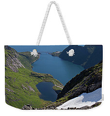Djupfjord And Lake 229 From Munken Weekender Tote Bag