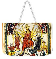 Durga Weekender Tote Bag by Asok Mukhopadhyay