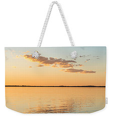 Weekender Tote Bag featuring the photograph Dusk At Lake Bonney by Ray Warren