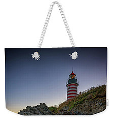 Weekender Tote Bag featuring the photograph Dusk At West Quoddy Head Lighthouse by Rick Berk
