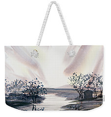 Dusk Creeping Up The River Weekender Tote Bag