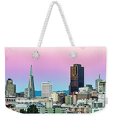 Weekender Tote Bag featuring the photograph Dusk In San Francisco by Bill Gallagher