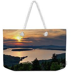 Weekender Tote Bag featuring the photograph Dusk, Mooselookmeguntic Lake, Rangeley, Maine -63362-63364 by John Bald