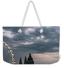 Weekender Tote Bag featuring the photograph Dusk Over Budapest by Alex Lapidus