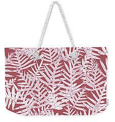 Dusty Cedar Ferns Sketch Weekender Tote Bag