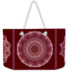 Dusty Rose Mandala Fractal Panel Weekender Tote Bag
