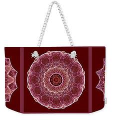 Dusty Rose Mandala Fractal Panel Weekender Tote Bag