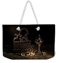 Weekender Tote Bag featuring the photograph Dusty Things by Raffaella Lunelli