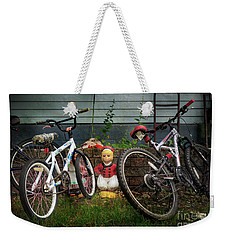 Weekender Tote Bag featuring the photograph Dutch Boy's Bicycles by Craig J Satterlee