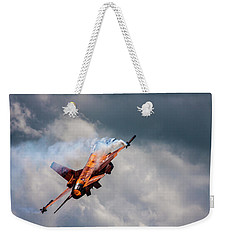 Dutch F16 Take Off At Waddington Weekender Tote Bag