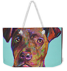 Dutch, The Brindle Mix Weekender Tote Bag by Robert Phelps