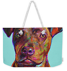 Dutch, The Pit Bull Pup Weekender Tote Bag by Robert Phelps