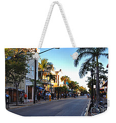 Duval Street In Key West Weekender Tote Bag