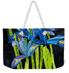 Dwarf Iris Watercolor On Yupo Weekender Tote Bag