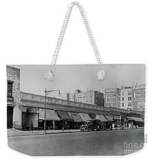 Weekender Tote Bag featuring the photograph Dyckman Street, 1927 by Cole Thompson