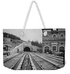 Weekender Tote Bag featuring the photograph Dyckman Street Station by Cole Thompson