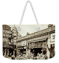 Weekender Tote Bag featuring the photograph Dyckman Theater, 1926 by Cole Thompson