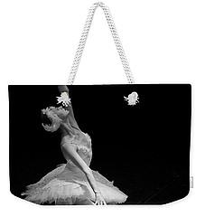 Dying Swan II. Weekender Tote Bag by Clare Bambers