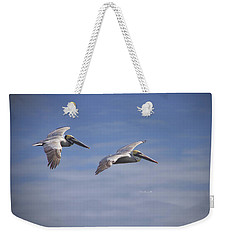 Weekender Tote Bag featuring the photograph Dynamic Duo by Phil Mancuso