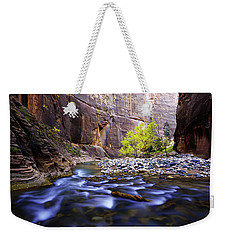 Weekender Tote Bag featuring the photograph Dynamic Zion by Chad Dutson