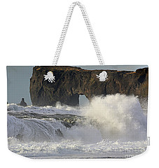 Dyrholaey Arch From Reynisfjara Beach 6858 Weekender Tote Bag