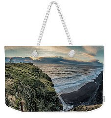 Weekender Tote Bag featuring the photograph Dyrholaey Light House by Allen Biedrzycki