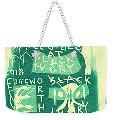 E Cd Green Weekender Tote Bag