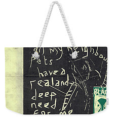 E Cd Main Reverse Weekender Tote Bag