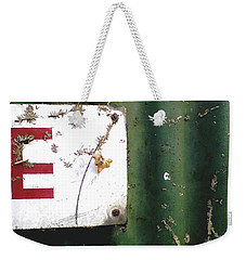 Weekender Tote Bag featuring the photograph E by Rebecca Harman