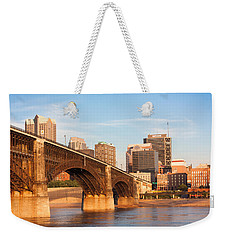Eads Bridge At St Louis Weekender Tote Bag by Semmick Photo