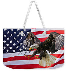 Eagle And Flag Weekender Tote Bag
