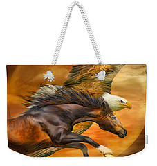 Eagle And Horse - Spirits Of The Wind Weekender Tote Bag