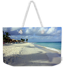 Weekender Tote Bag featuring the photograph Eagle Beach Aruba by Suzanne Stout