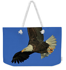 Weekender Tote Bag featuring the photograph Eagle Diving by Coby Cooper