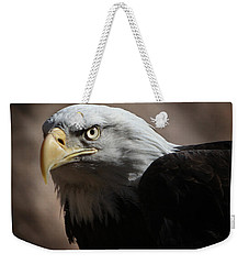 Weekender Tote Bag featuring the photograph Eagle Eyed by Marie Leslie