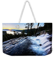 Weekender Tote Bag featuring the photograph Eagle Falls At Emerald Bay by John Hight