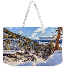 Weekender Tote Bag featuring the photograph Eagle Falls by Charles Garcia