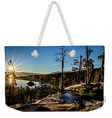 Weekender Tote Bag featuring the photograph Eagle Falls Sunrise by Mitch Shindelbower