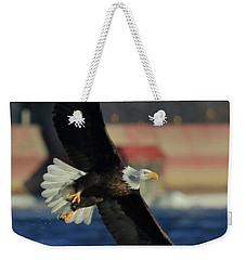 Weekender Tote Bag featuring the photograph Eagle Flying by Coby Cooper