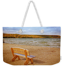 Weekender Tote Bag featuring the photograph Eagle Harbor Summer Is Over by Heidi Hermes