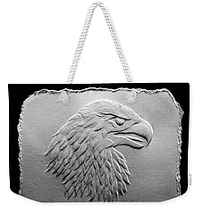 Eagle Head Relief Drawing Weekender Tote Bag by Suhas Tavkar