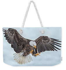 Eagle In The Clouds Weekender Tote Bag by CR Courson