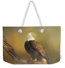 Eagle In The Fog Weekender Tote Bag