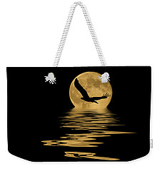 Eagle In The Moonlight Weekender Tote Bag by Shane Bechler