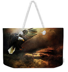 Eagle Is Landing Weekender Tote Bag